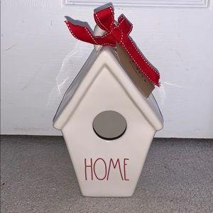 Rae Dunn ceramic HOME birdhouse
